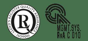 Logo certiciaten ISO9001 en RvA